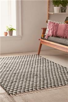 Fibers - שטיח שחור לבן ארוג