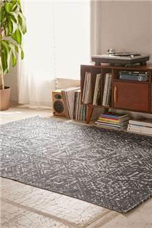 Fibers - שטיח אפור לבן בעיצוב סקנדינבי