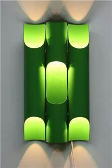 Fibers - מנורת קיר וינטאג' ירוקה