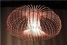 Fibers - גוף תאורה כלוב ורוד