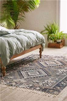 שטיח אפור בעיצוב גאומטרי - Fibers