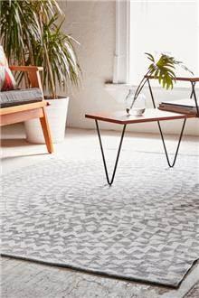 שטיח גאומטרי אפור משולשים - Fibers