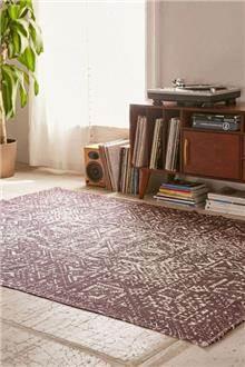שטיח גאומטרי חום לבן - Fibers