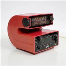 שעון רדיו וינטאג' אדום - Fibers