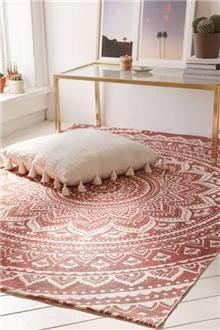 שטיח מנדלות בצבע אפרסק - Fibers