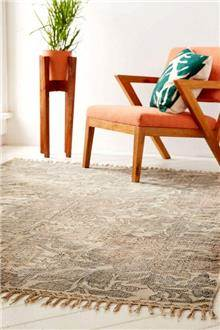 Fibers - שטיח פרחוני משופשף