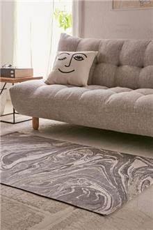 שטיח צמר בגווני אפור - Fibers