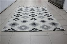שטיח כותנה גאומטרי אפרפר