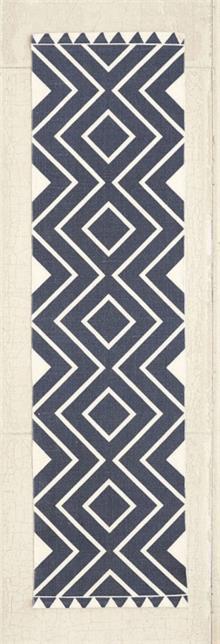 שטיח זיגזג כחול
