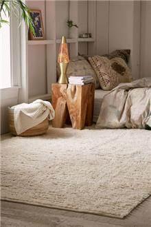 Fibers - שטיח סקנדינבי בהיר תלת מימדי