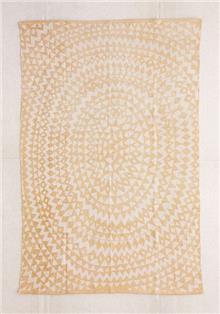 שטיח גאומטרי צהוב עם משולשים - Fibers