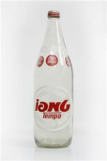 בקבוק טמפו ישן מזכוכית - Fibers