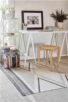 שטיח נורדי אפור ושמנת - Fibers