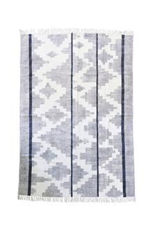 שטיח דני גאומטרי זיגזג שחור לבן - Fibers