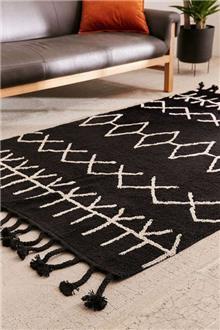 שטיח ברבר רך ושחור - Fibers