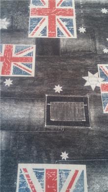 עיצוב על גלגלים - בד סינטטי דגלים