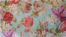 בד סינטטי דוגמת פרחים
