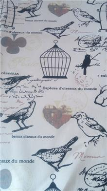 עיצוב על גלגלים - בד פשתן כלוב ציפורים