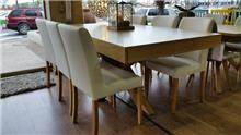פינת אוכל + 6 כיסאות מעוצבים - בית אלי - אולם תצוגה לרהיטים
