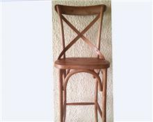 כיסא בר מרשים בצבע טבעי