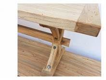 ספסל מעץ בוקיצה ממוחזר