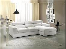 ספה פינתית לבנה