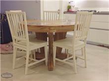 HouseIn - שולחן עגול מעץ מלא