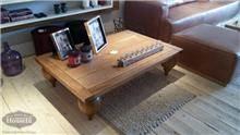 שולחן סלון דקורטיבי מעץ מלא