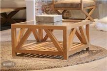 שולחן קפה קטן מעץ מלא - HouseIn