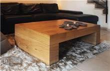 שולחן סלון מעוצב מעץ מלא - HouseIn