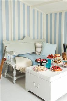 מעודד צבעים - טפט כחול לבן