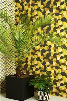 מעודד צבעים - טפט גאומטרי צהוב