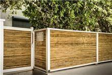 גדר עץ לבן ובמבוק מהוקצע - טימבר ארט