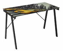 שולחן עבודה עם זכוכית מודפסת - take-it