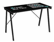 שולחן מחשב עם זכוכית מודפסת - take-it