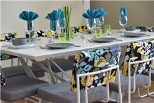 שולחן נוגה + כסאות סביון - מסובין