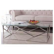 שולחן סלון נירוסטה טריגר מלבני - Besto