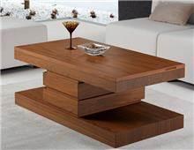 DUPEN (דופן) - שולחן סלון חום