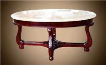 שולחן עגול בגוון כהה - Treemium - חלומות בעץ מלא