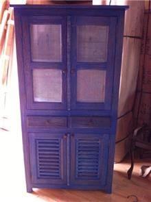 ארון כחול מעץ מלא - Treemium - חלומות בעץ מלא