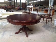 שולחן עגול מעץ - Treemium - חלומות בעץ מלא