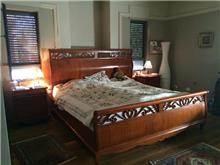 מיטה זוגית חומה - Treemium - חלומות בעץ מלא