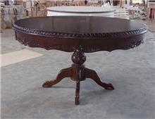 שולחן עגול עץ מהגוני - Treemium - חלומות בעץ מלא