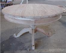 שולחן עגול עץ אלון מלא - Treemium - חלומות בעץ מלא