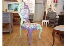 כסא צבעוני - Treemium - חלומות בעץ מלא