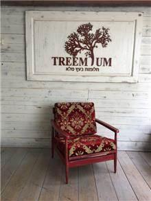 כורסא באדום - Treemium - חלומות בעץ מלא