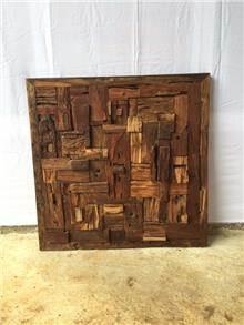 תמונת קיר מעץ טיק - Treemium - חלומות בעץ מלא