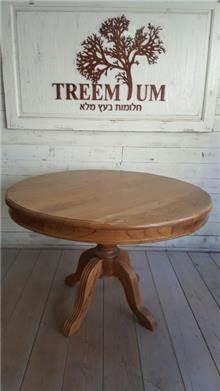 שולחן עגול כפרי - Treemium - חלומות בעץ מלא
