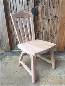 כסא עץ מלא כפרי - Treemium - חלומות בעץ מלא