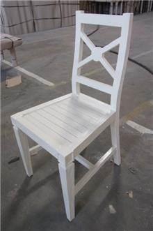 כיסא עץ מלא מהגוני שמנת - Treemium - חלומות בעץ מלא